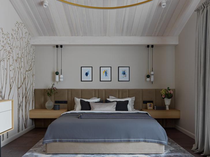 Фото №14 - Дом в Подмосковье 250 м² с камином и большими окнами