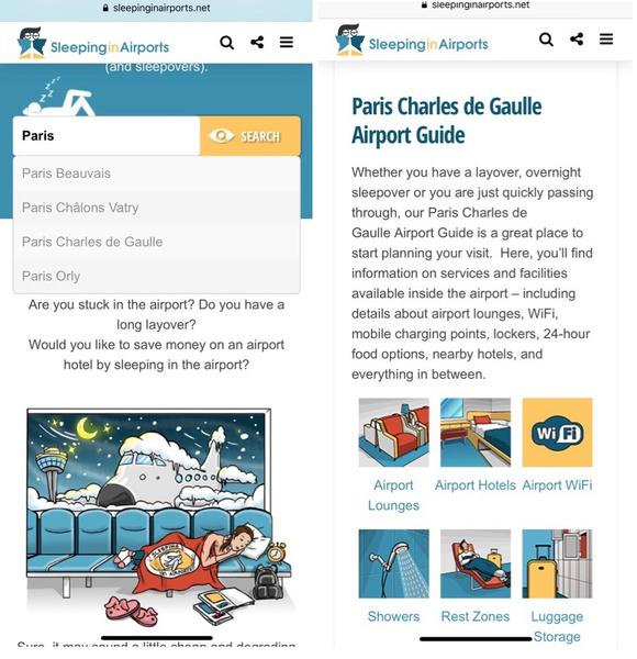 Фото №1 - Сайт дня: Все для комфортного пребывания в аэропорту