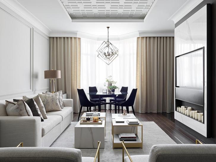 Фото №1 - Новая классика в серых тонах: квартира 100 м² в Москве