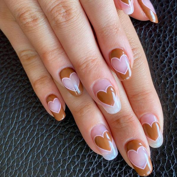 Фото №2 - Heart Nails: трендовый маникюр из Инстаграма, которые покорит твое сердце ❤️