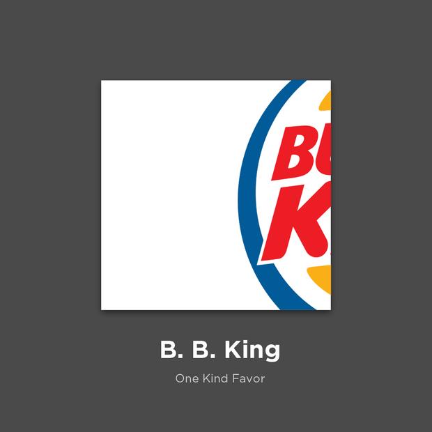 Фото №20 - 27 альбомов поп- и рок-звезд в виде известных логотипов