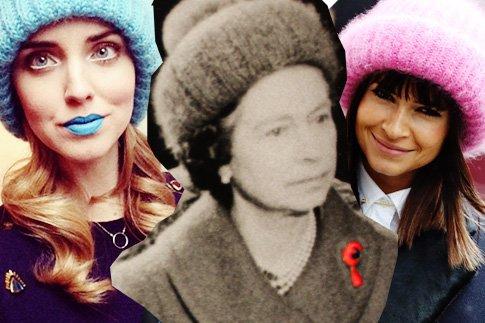 Фото №1 - Мохеровая шапка Елизаветы ll стала главным трендом зимы 2013