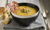 Вкусный суп с копчёными рёбрышками в мультиварке