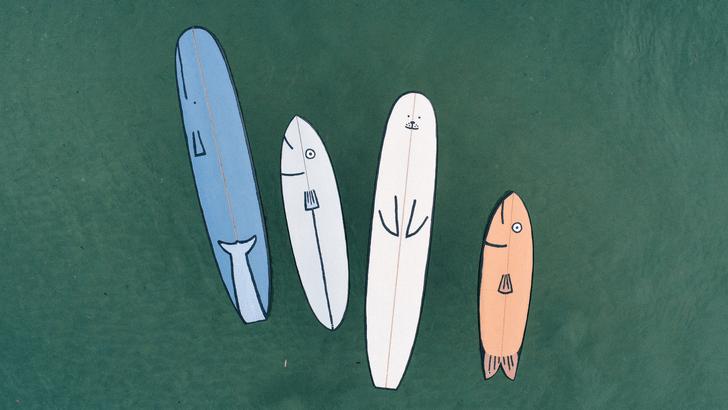 Фото №1 - Крупная рыба: доски для серфинга в виде морских животных