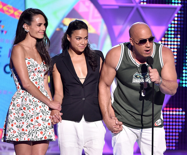 Джордана Брюстер, Мишель Родригес, Вин Дизель Teen Choice Awards 2015