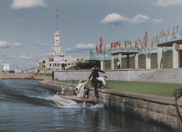Москва в фильме «Волга-Волга», 1938 год
