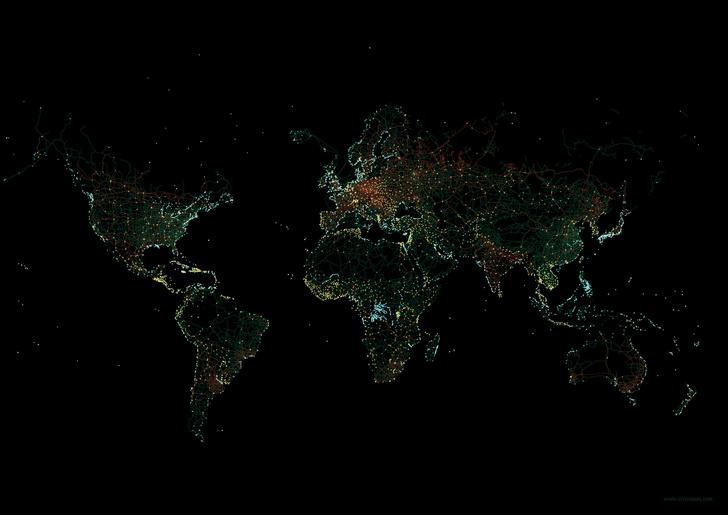 Фото №1 - 8 карт, на которых показана вся инфраструктура Земли
