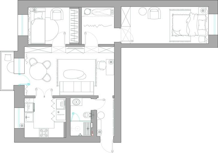 Фото №12 - Стильная квартира для мамы и бабушки в советской панельке