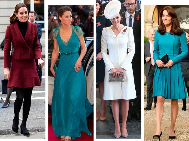 Фото №1 - 6 знаковых нарядов герцогини Кембриджской, которые она носит уже 6 лет