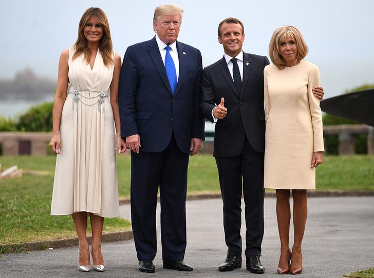 Фото №1 - Как чета Макрон встретила мировых лидеров на саммите G7