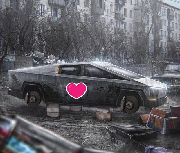 Каким бы высокотехнологичным не был автомобиль, в России у него все равно одна судьба… Эстетика окраин во всей красе. Сердечком, естественно, загорожена хула без адреса— шедевр чистого искусства, если по Довлатову…