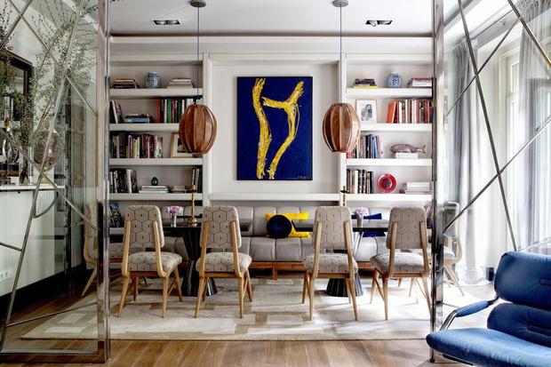 Фото №8 - Модная деталь: банкетки и скамейки в столовой