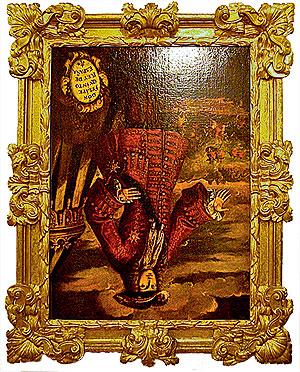 JoanbanjoПортрет испанского короля Филиппа V в музее валенсийского города Хатива уже 74 года висит вверх ногами. Так своеобразно мстят монарху жители города, который он приказал сжечь 19 июня 1707 года.