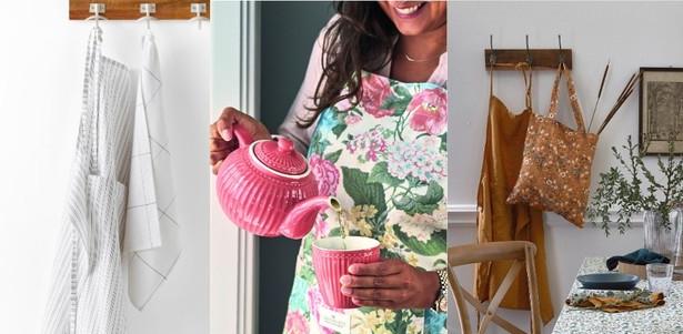 Фото №1 - Модные фартуки и текстиль для кухни