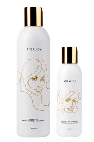 Шампунь и молочко для волос «8 витаминов & 7 минералов» от Ansaligy
