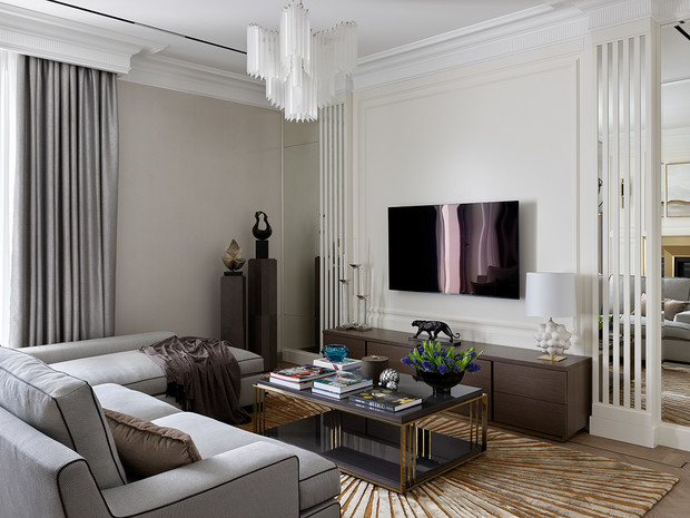 Фото №2 - Классическая квартира с латунными акцентами