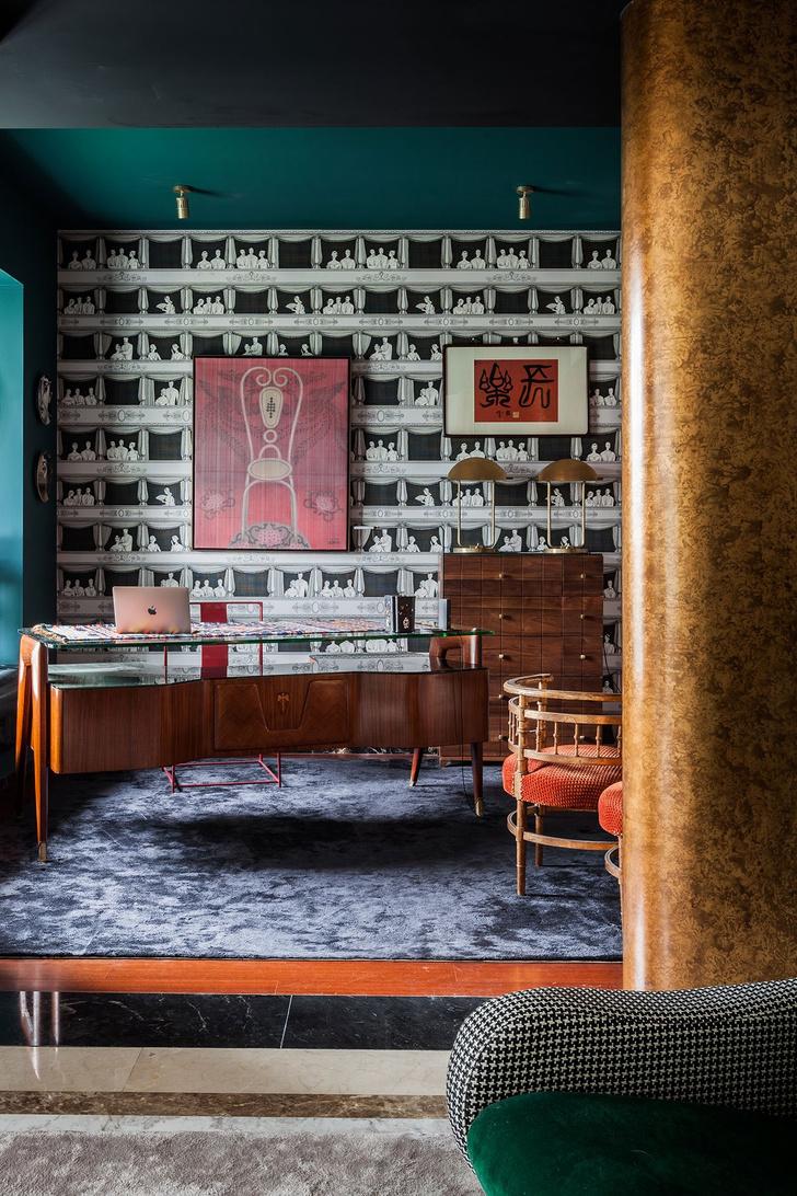 Фото №7 - Эклектичная квартира с винтажной мебелью в Шанхае