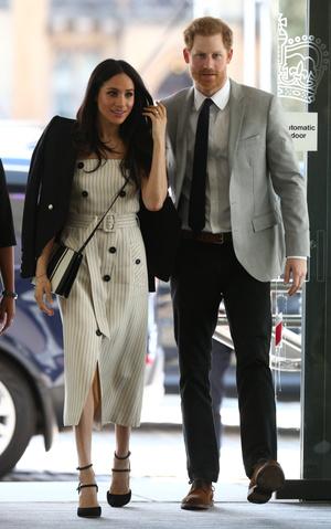 Фото №7 - Их модные Высочества: лучшие парные образы Меган и Гарри