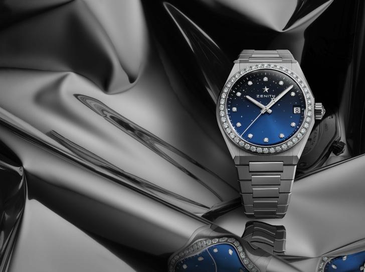 Фото №1 - Космические новинки: Zenith представили женские часы Defy Midnight