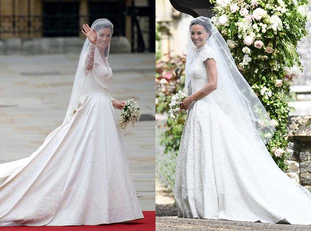 Фото №1 - Две невесты: Пиппа Миддлтон vs Кейт Миддлтон
