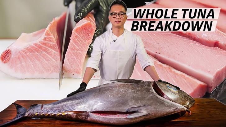 Фото №1 - Видео для медитации: как японский шеф-повар разделывает тунца