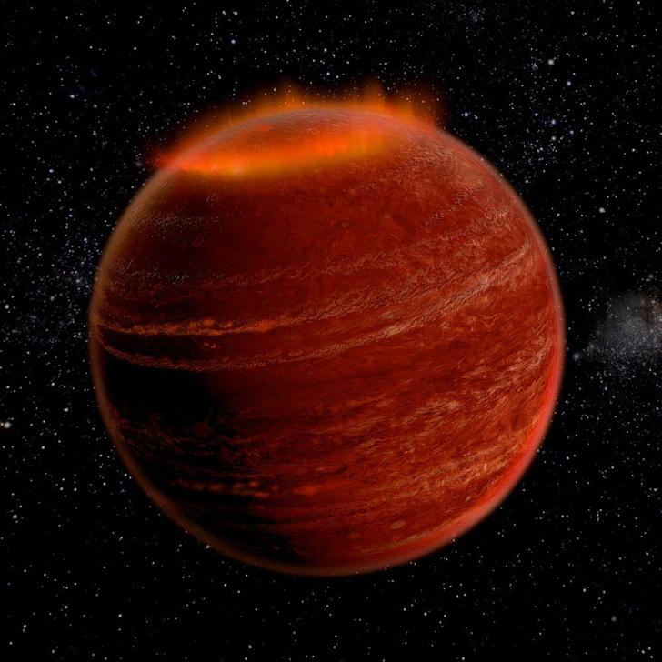 Фото №1 - Астрономы обнаружили полярное сияние вне Солнечной системы