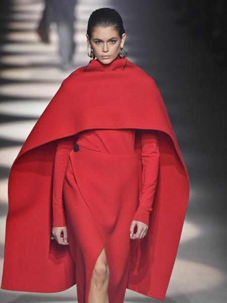Кайя на показе Givenchy