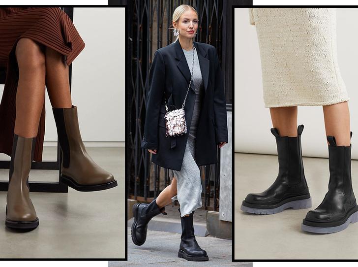 Фото №1 - Самая модная обувь сезона: где искать челси на платформе (и с чем их носить)