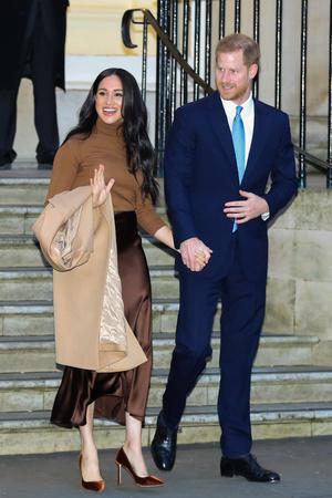 Фото №13 - Их модные Высочества: лучшие парные образы Меган и Гарри