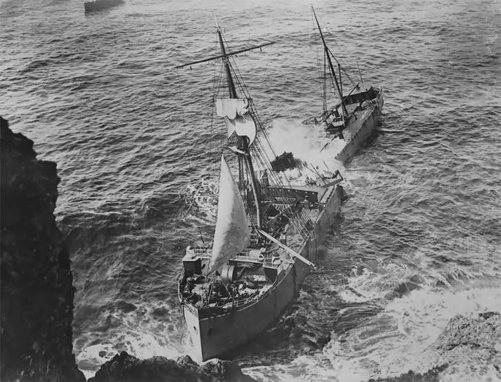 Фото №9 - Не повезло: старинные фотографии кораблекрушений
