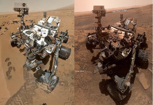 Фото №1 - До и после: как изменился марсоход «Кьюриосити» за 7 лет