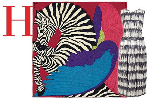 ПЛАТОК-КАРЕ, HERMÈS В этом сезоне самый главный принт – с зеброй-пегасом дизайнера Alice Shirley. ПЛИССИРОВАННОЕ ПЛАТЬЕ C ПОКАЗА HUGO BOSS Универсальная вещь – можно носить и днем, и вечером
