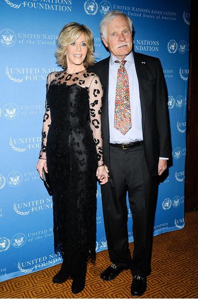 Тед и его супруга актриса Джейн Фонда