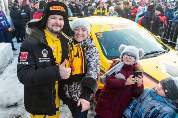Заводской пилот Lada Кирилл Ладыгин опять оказался быстрее всех