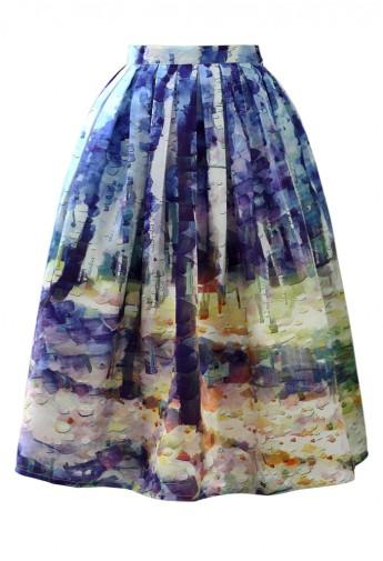 Фото №2 - Вещь дня: Юбка Chicwish с живописным принтом