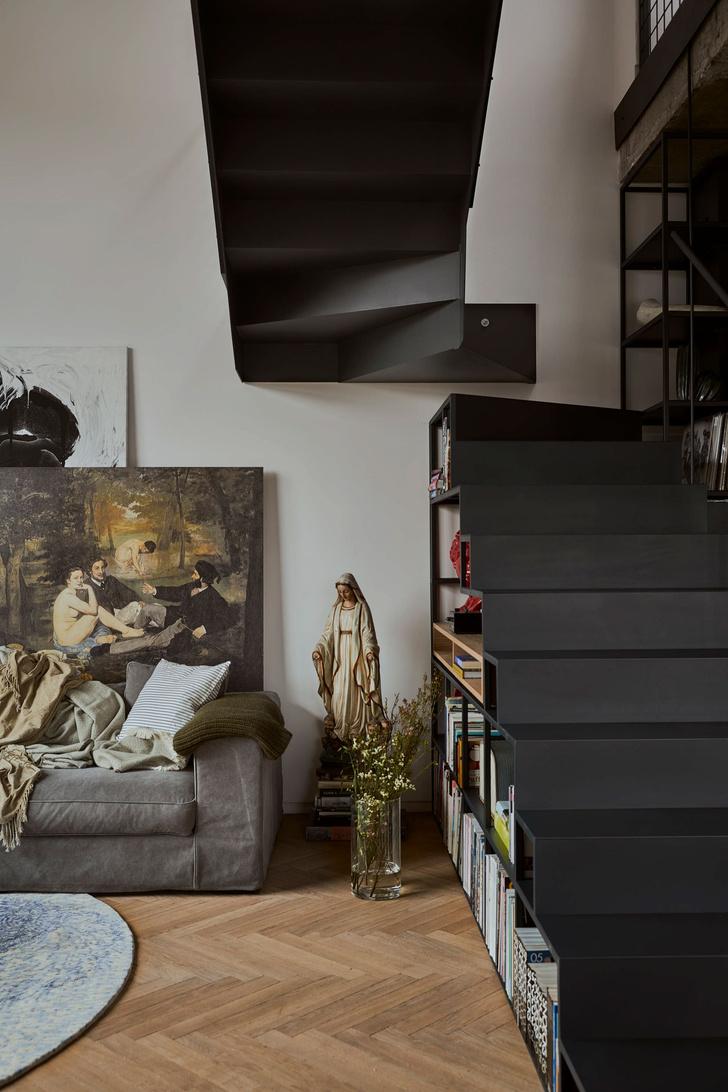 Фото №5 - Эклектичная квартира со спальней в мезонине в Познани