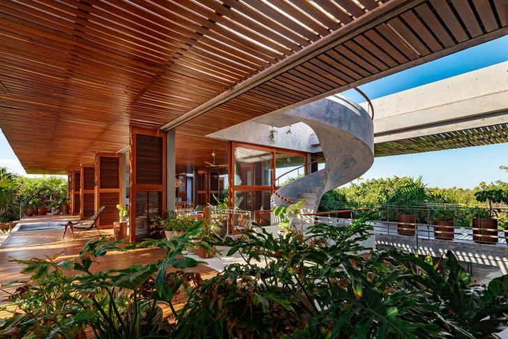 Фото №2 - Бетонный дом на побережье Карибского моря в Тулуме