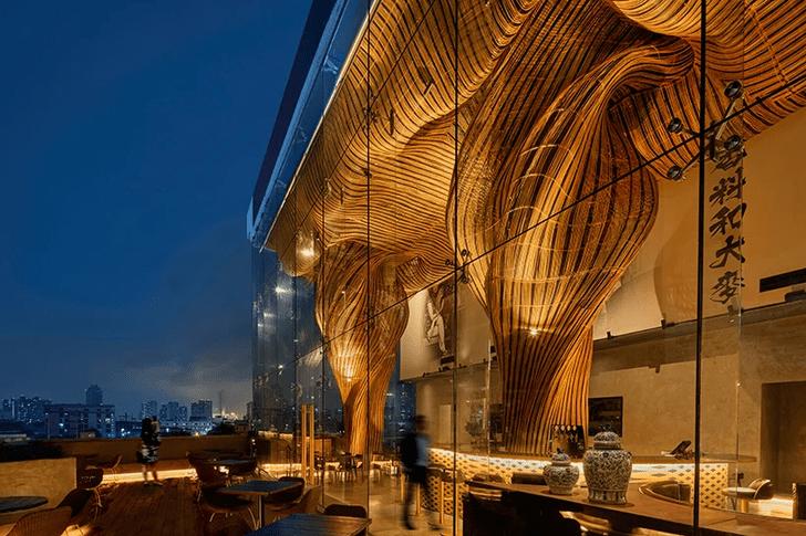 Фото №2 - Инсталляция из ротанга в ресторане Spice & Barley