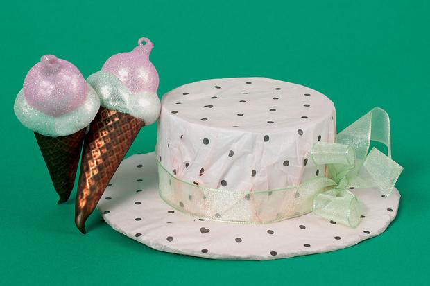 упаковка для подарка шляпа