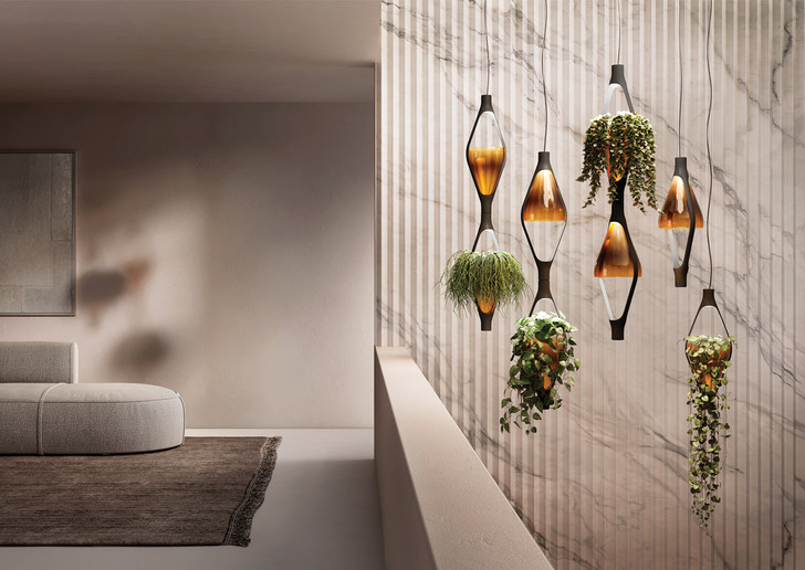 Фото №1 - Viceversa: новый светильник-кашпо Kundalini