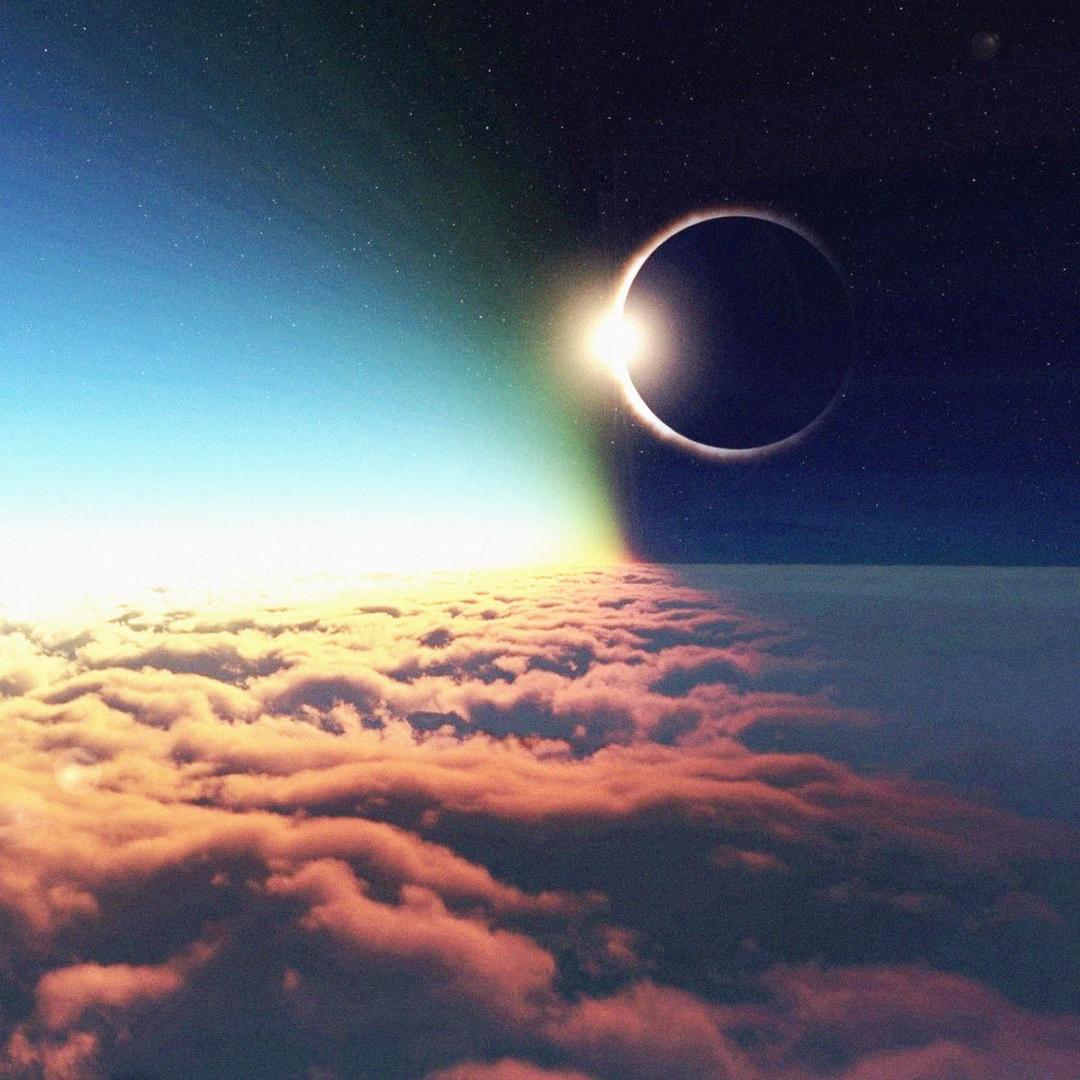 Картинки солнечное затмение днем