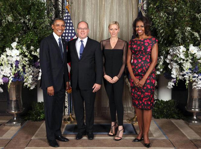 Фото №2 - Почему княгиня Шарлен отказалась от встречи с четой Обама