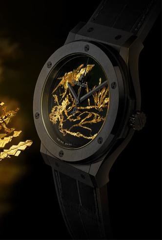 Фото №5 - Hublot представили новинку, украшенную кристаллами золота