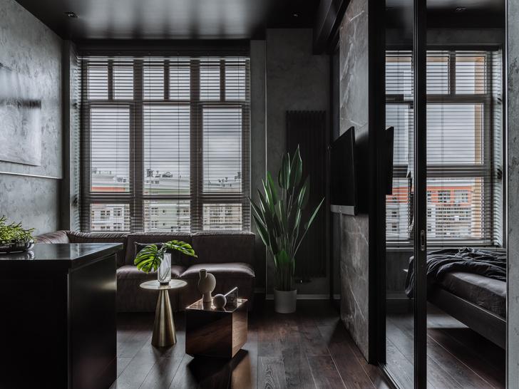 Фото №2 - Брутальная квартира 43 м² для любителя острых ощущений