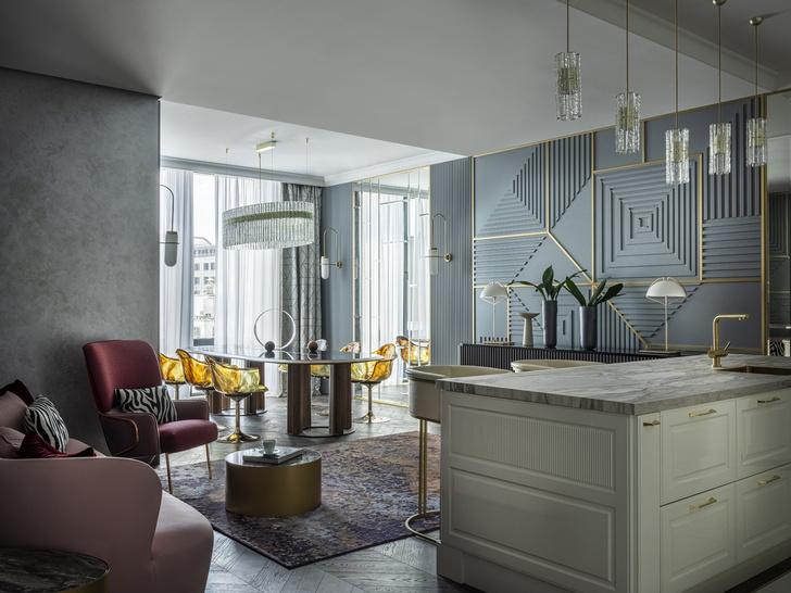 Фото №1 - Эклектичная квартира для большой семьи в центре Москвы