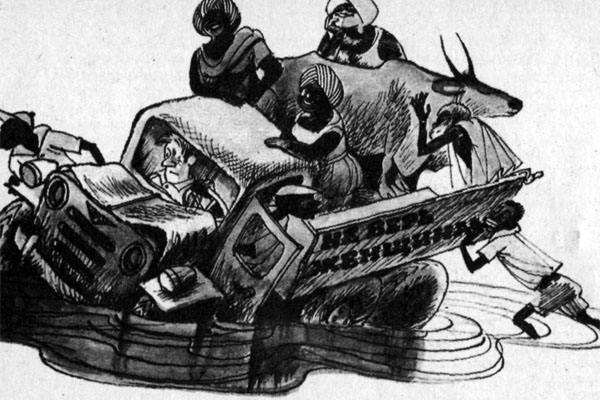 Фото №1 - ...Размышления приезжего пешехода о философии ганского водителя