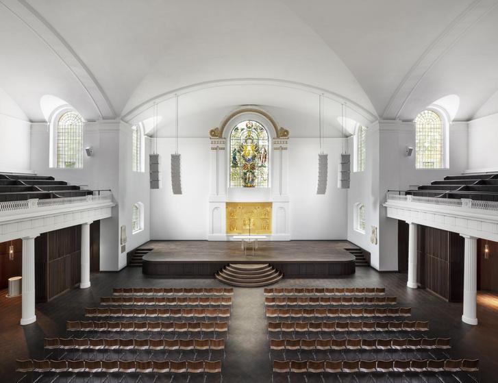 Фото №1 - Джон Поусон провел реконструкцию церкви Святого Иоанна в Хакни