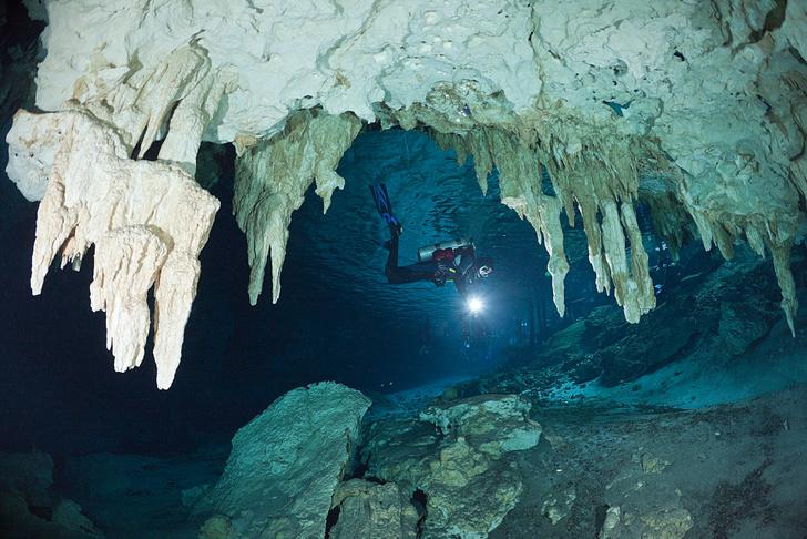 Фото №1 - В Мексике обнаружена крупнейшая в мире подводная пещера