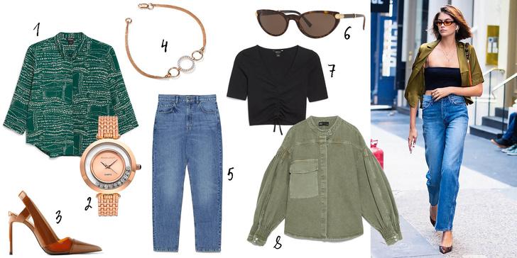 1, 7. Monki, 2, 4. Sunlight, 3, 5, 8. Zara, 6. Versace