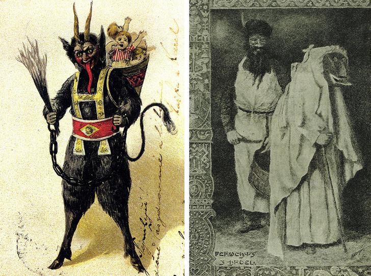 Фото №1 - «Крампус заберет тебя»: 6 самых страшных рождественских легенд